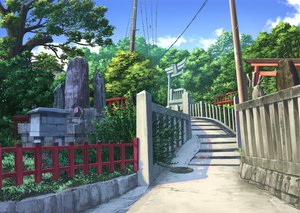 Rating: Safe Score: 50 Tags: aruken clouds forest grass nobody original shrine sky stairs torii tree User: mattiasc02
