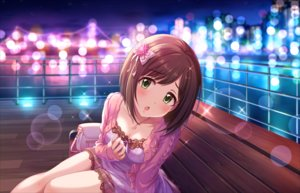 Rating: Safe Score: 59 Tags: annin_doufu blush bow breasts brown_hair cleavage dress fang green_eyes idolmaster idolmaster_cinderella_girls idolmaster_cinderella_girls_starlight_stage maekawa_miku necklace night park short_hair sky User: RyuZU