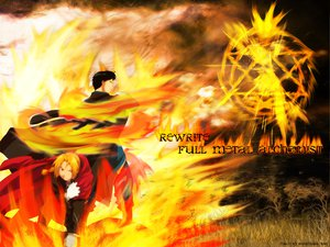 Rating: Safe Score: 10 Tags: edward_elric fire fullmetal_alchemist roy_mustang User: Oyashiro-sama