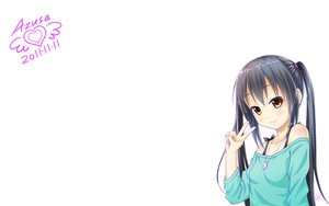 Rating: Safe Score: 70 Tags: black_hair brown_eyes gotou_hisashi k-on! long_hair nakano_azusa twintails white User: SciFi