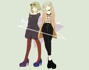 Rating: Safe Score: 80 Tags: 2girls gumi hassan_(sink916) hatsune_miku sunglasses vocaloid User: FormX