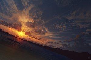 Rating: Safe Score: 61 Tags: beach clouds mocha_(cotton) nobody original scenic signed sky sunset water User: RyuZU