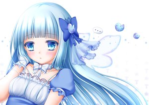 Rating: Safe Score: 74 Tags: blue_eyes blue_hair bow close long_hair shitou tagme User: opai