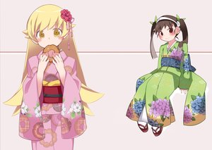 Rating: Safe Score: 31 Tags: 2girls bakemonogatari hachikuji_mayoi hammer_(sunset_beach) japanese_clothes kimono loli monogatari_(series) oshino_shinobu User: FormX