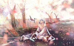 Rating: Safe Score: 36 Tags: animal cat cherry_blossoms chris4708 flowers hatsune_miku long_hair tree twintails vocaloid User: BattlequeenYume