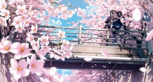 Rating: Safe Score: 126 Tags: 5_nenme_no_houkago bicycle brown_hair cherry_blossoms clouds cropped flowers kantoku kneehighs long_hair male petals ponytail scan scenic seifuku short_hair skirt sky User: RyuZU
