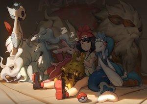 Rating: Safe Score: 42 Tags: arcanine elekid froslass gods lurantis mizuki_(pokemon) ninetales pokemon primarina User: FormX