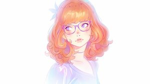 Rating: Safe Score: 90 Tags: blush choker close flowers glasses ilya_kuvshinov orange_hair original purple_eyes white User: mattiasc02