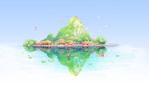 Rating: Safe Score: 39 Tags: animal bird boat flowers japanese_clothes original reflection sanaa scenic sky torii watermark white User: RyuZU