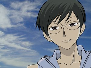 Rating: Safe Score: 3 Tags: blue glasses ootori_kyoya ouran_high_school_host_club sky User: Oyashiro-sama
