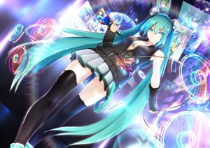 Rating: Safe Score: 131 Tags: big.g bra hatsune_miku microphone panties skirt striped_panties thighhighs twintails underwear upskirt vocaloid User: FormX