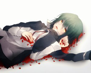 Rating: Safe Score: 37 Tags: angel_beats! crying green_hair naoi_ayato petals tears User: HawthorneKitty