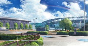 Rating: Safe Score: 48 Tags: building clouds grass nasu nobody original rainbow scenic sky water User: RyuZU