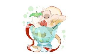 Rating: Safe Score: 19 Tags: animal apple bird cake cat chai_(artist) cherry food fruit nobody original third-party_edit white User: otaku_emmy