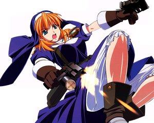 Rating: Safe Score: 17 Tags: chrono_crusade gun nun rosette_christopher weapon white User: 秀悟