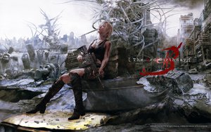 Rating: Safe Score: 288 Tags: aya_brea blonde_hair blood boots building city gun necklace nomura_tetsuya parasite_eve realistic ruins scenic short_hair square_enix torn_clothes watermark weapon User: Domon