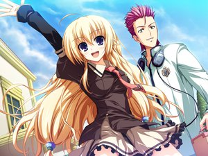 Rating: Safe Score: 25 Tags: akatsuki_no_goei blonde_hair game_cg kurayashiki_tae seifuku tomose_shunsaku User: Wiresetc
