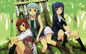 Rating: Safe Score: 45 Tags: aoba_tsugumi blue_hair kannagi_crazy_shrine_maidens nagi takenashi_eri zange User: haru3173