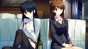 Rating: Safe Score: 31 Tags: bed black_hair blush brown_eyes brown_hair drink game_cg green_eyes long_hair night ogiso_setsuna pantyhose touma_kazusa white_album_2 User: Maboroshi