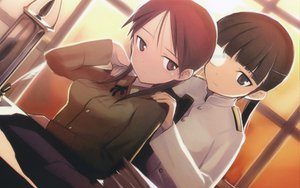 Rating: Safe Score: 26 Tags: eyepatch minna-dietlinde_wilcke sakamoto_mio shimada_fumikane strike_witches User: meccrain