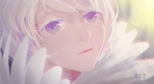 Rating: Safe Score: 37 Tags: close myrockys purple_eyes short_hair watermark white_hair User: luckyluna