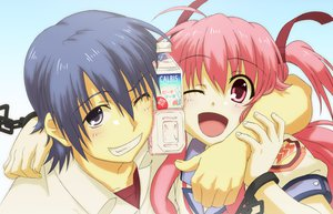 Rating: Safe Score: 59 Tags: angel_beats! fumichi hinata_hideki yui_(angel_beats!) User: FormX