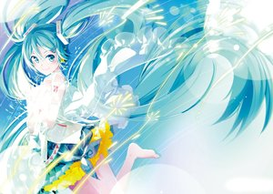 Rating: Safe Score: 24 Tags: hatsune_miku long_hair tagme_(artist) twintails vocaloid User: luckyluna
