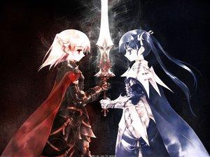 Rating: Safe Score: 53 Tags: armor original sumi_keiichi sword weapon User: Oyashiro-sama