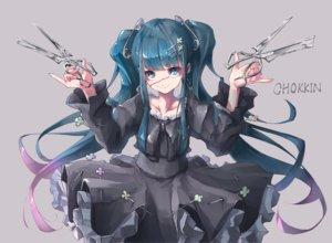 Rating: Safe Score: 84 Tags: aliasing blue_eyes blue_hair dress goth-loli lolita_fashion long_hair original scar shima0917 twintails User: RyuZU