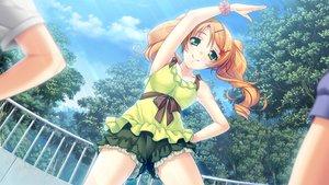 Rating: Safe Score: 51 Tags: ayase_hazuki game_cg green_eyes kamidere long_hair orange_hair shorts tokunaga_hoshino User: coco59
