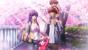 Rating: Safe Score: 59 Tags: blue_eyes cherry_blossoms flowers frill gakuen_taima game_cg koizumi_amane mikoshiba_iori purple_hair User: Maboroshi