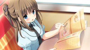 Rating: Safe Score: 117 Tags: berrys blue_eyes blush brown_hair game_cg houkou_yuuka sphere User: Maboroshi