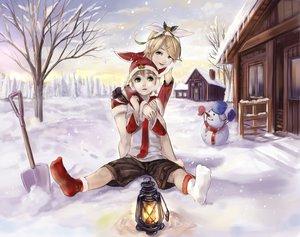 Rating: Safe Score: 22 Tags: building christmas kagamine_len kagamine_rin male snow snowman vocaloid User: HawthorneKitty