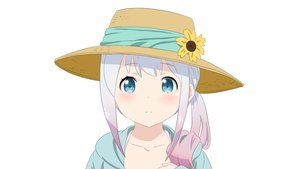 Rating: Safe Score: 28 Tags: aqua_eyes close eromanga-sensei fukuri gray_hair hat izumi_sagiri loli long_hair ribbons white User: gnarf1975