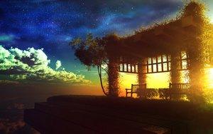 Rating: Safe Score: 210 Tags: 3d clouds grass landscape nobody original scenic sky stars sunset tree y-k User: STORM