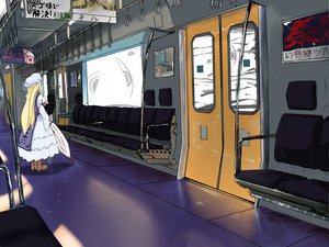Rating: Safe Score: 9 Tags: kaibu222 touhou train umbrella yakumo_yukari User: Quegg