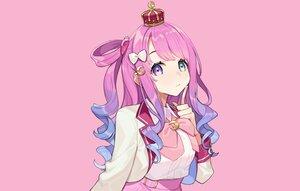 Rating: Safe Score: 60 Tags: bicolored_eyes bow cat_smile close crown himemori_luna hololive long_hair pink pink_hair ponytail shirt skirt yuu_(higashi_no_penguin) User: otaku_emmy