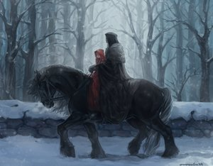 Rating: Safe Score: 103 Tags: animal aureolin31 braids dark forest hoodie horse little_red_riding_hood long_hair male original red_riding_hood signed snow tree twintails winter User: mattiasc02