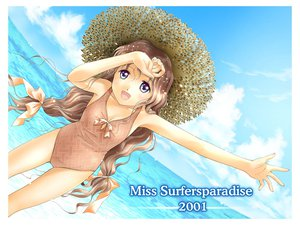 Rating: Safe Score: 3 Tags: blue_eyes brown_hair miss_surfersparadise swimsuit User: Oyashiro-sama