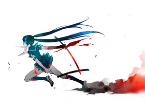 Rating: Safe Score: 297 Tags: black_rock_shooter crossover hatsune_miku katana seifuku sword vocaloid weapon white User: w7382001
