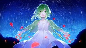 Rating: Safe Score: 117 Tags: dress green_eyes green_hair gumi heart petals raru vocaloid User: FormX