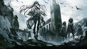 Rating: Safe Score: 98 Tags: animal bird black_hair building city girls_frontline group hoodie long_hair navel rain ruins scenic swav tagme_(character) techgirl water yellow_eyes User: Dreista