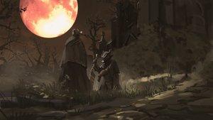 Rating: Safe Score: 95 Tags: bloodborne building cape dark grass hat moon night scenic snatti sword the_doll the_hunter tree weapon User: otaku_emmy