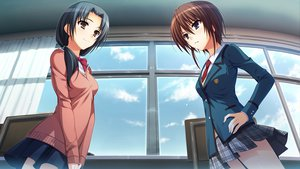 Rating: Safe Score: 48 Tags: brown_hair game_cg koi_de_wa_naku makishima_yumi seifuku short_hair tomose_shunsaku User: Wiresetc