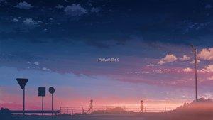 Rating: Safe Score: 43 Tags: clouds hati_98 original scenic silhouette sky sunset User: RyuZU