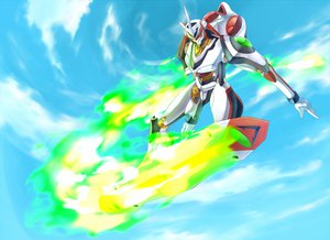 Rating: Safe Score: 20 Tags: clouds d.summer_(4945) eureka_seven nirvash sky User: Black_Rock_Shooter
