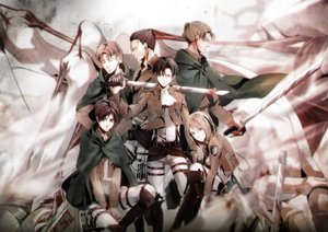 Rating: Safe Score: 10 Tags: auruo_bossard erd_gin eren_jaeger group gunter_shulz kawauso levi_ackerman male petra_ral shingeki_no_kyojin sword tagme uniform weapon User: FormX