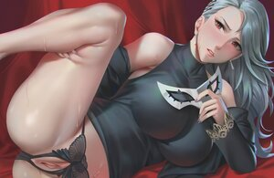 Rating: Explicit Score: 114 Tags: gray_hair long_hair mask niijima_sae panties persona persona_5 pussy red_eyes uncensored underwear unfairr User: BattlequeenYume