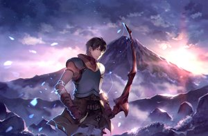 Rating: Safe Score: 19 Tags: aliasing all_male arash_(fate) armor black_hair bow_(weapon) brown_eyes clouds fate/prototype fate_(series) gloves jpeg_artifacts male short_hair sky sunakumo weapon User: RyuZU