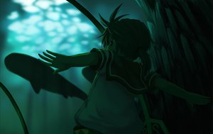 Rating: Safe Score: 21 Tags: all_male animal fish green kagamine_len male ponytail underwater vocaloid water User: HawthorneKitty